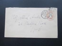 GB 1894 Ganzsachenumschlag Ortsbrief London. Balham S.W. To 26 Bedford Place - Briefe U. Dokumente