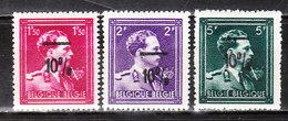 724N/P**  Leopold III Col Ouvert Surchargé -10% - FOREST - Série Complète - MNH** - LOOK!!!! - 1946 -10%
