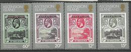 EE 1986 DEFINITIVE, ASCENSION, 1 X 4v, MNH - Briefmarken Auf Briefmarken