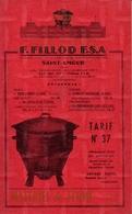 Catalogue Fillod Saint Amour Materiel De Ferme Environ 1957 - Jardinage