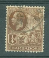 Barbados: 1912/16   KGV    SG170    ¼d    Brown    Used - Barbados (...-1966)