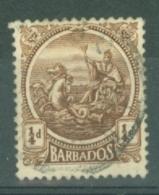 Barbados: 1921/24   Seal Of Colony    SG217    ¼d      Used - Barbados (...-1966)