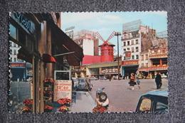 PARIS - MONTMARTRE, Le Moulin Rouge Et La Place Blanche. - Arrondissement: 18