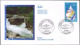 FRANCE 3388 FDC Premier Jour EUROPA L'eau Goutte Globe Wasser Water Acqua Agua Ressource Naturelle - FDC