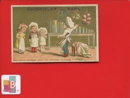 Chocolat Du Para Jolie Chromo Vieillemard Petits Mitrons Cuisine Cuisinier Apprentissage - Chocolat