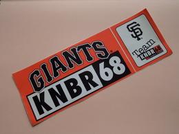 GIANTS KNBR 68 - SF Team ( Zie Foto Voor Details ) 25 X 9 Cm. - Zelfklever Sticker Autocollant / SAN FRANCISCO ! - Sports