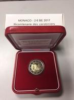 MONACO 2 EURO 2017  CARABINIERS DU PRINCE COFFRET BELLE EPREUVE, TIRAGE 15 000. - Monaco
