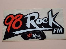 98 Rock FM ( Zie Foto Voor Details ) 17 X 9 Cm. - Zelfklever Sticker Autocollant U.S.A. - VS ( CA ) ! - Advertising
