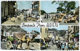 YEMEN  ADEN  Souvenir From.. Multiview  Scenes Round Town - Yemen