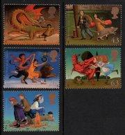GREAT BRITAIN 1998 Children's Fantasy Novels: Set Of 5 Stamps UM/MNH - 1952-.... (Elizabeth II)
