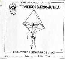 BUBBLE GUM / CHEWING GUM: GORILA - AERONAUTICAL SERIES / (1) PIONEERS - 001 LEONARD DE VINCI PROJECT - Vieux Papiers