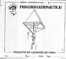 BUBBLE GUM / CHEWING GUM: GORILA - AERONAUTICAL SERIES / (1) PIONEERS - 001 LEONARD DE VINCI PROJECT - Other