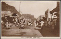 Main Bazaar, Aden, C.1920s - Benghiat RP Postcard - Yemen