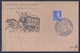 Carte Locale  Journée Du Timbre 1943 Edelbach Camp De Prisonniers Oflag XVII Mercure - Marcophilie (Lettres)