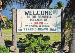 Bikini Atoll . Marshall Islands . Welcome Sign At Eneu Airstrip - Marshall Islands