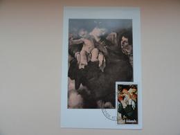 CARTE MAXIMUM CARD LA MADONNA DELLA RONDINE PAR GUERCINO COOK ISLANDS - Madonne