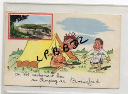 CPA - 19 - BONNEFOND - On Est Vachement Bien Au Camping De Bonnefond - Illustrateur Jean De Fursac - RARE - Autres Communes