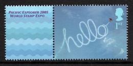 GREAT BRITAIN 2005 Pacific Explorer 2005: Single Stamp + Label UM/MNH - 1952-.... (Elisabeth II.)