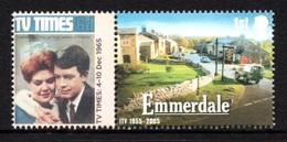 GREAT BRITAIN 2005 Classic ITV Programmes: Single Stamp + Label UM/MNH - Nuovi
