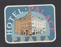 étiquette Valise  -   Hôtel Palace  à  Praha  (Prague)   République Tchèque - Hotel Labels