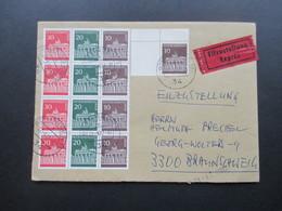 Berlin 1977 Eilbrief Mit Berlin ZD 4x W43 Als 12er Block Aus MHB. Viele Stempel! Nachsendeantrag Liegt Nicht Vor. - [5] Berlijn