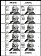 BRD - Mi 3384 Kleinbogen - ** Postfrisch - 70C        Karl Marx - Ausgabe: 03.05.2018 - Nuovi