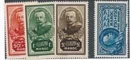 M-817: MAROC:  Lot Avec N°150/152** + PA N°40 - Maroc (1891-1956)