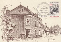 Carte  Maximum  1er  Jour    Henri   ALAIN - FOURNIER   Le  Grand  Meaulnes    LA  CHAPELLE  D' ANGILLON   1986 - Cartes-Maximum