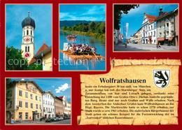 73210028 Wolfratshausen Flossfahrt Kirche  Wolfratshausen - Wolfratshausen