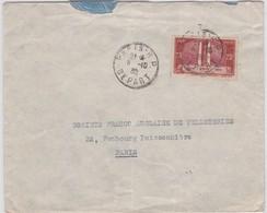 LSC - N°316  OBL. PARIS RP / 8-10-36 - Marcophilie (Lettres)
