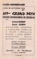 GRAND PRIX CYCLISTE 1958)  CAZES- MONDENARD  - LES PLUS GRANDS CHAMPIONS 1958     RARE - Ciclismo