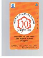 INDONESIA - TELKOM  - 1992 NON ALIGNED SUMMIT  - USED - RIF. 10374 - Indonesia