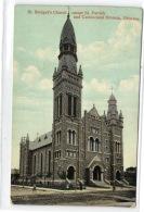 1 Postcard Ottawa St. Bridget's Church Corner St. Patrick And Cumberland St. - Ottawa