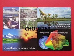 BOLIVIE 4 First Cards 5+10+20+50 Bs Exp 31.12.98 Views Radar 24 Hours Bolivia World MINT URMET Neuve - Bolivie