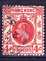 Hongkong - König Georg V. (MiNr: 116) 1921 - Gest Used Obl - Oblitérés