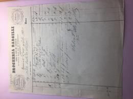 1-7-1854-DROGHERIA BARCILLI-FABBRICA DI CIOCCOLATA,CONFETTI E COLONIALI - Italia