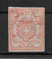 SUISSE AN 1852 YVERT NR. 24 MNH AVEC GOMME ORIGINALE RAYON III - 1843-1852 Correos Federales Y Cantonales