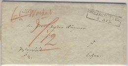 Braunschweig  - Wolfenbüttel, Ra2 A. Postvorschußbrief  N. (?) 1824 - Braunschweig