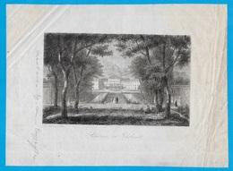 Rare Gravure Ancienne 13 LE THOLONET (Château Du) - Vieux Papiers