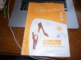 CB3 L'informateur Bulletin Professionnel De La Chaussure Cordonnier N°16/1958 - Publicité