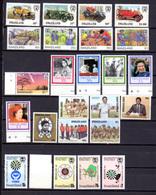 1985-87   Swaziland, Entre Yv. 486 Et 528**, Cote 77 €, Papillons Butterflies Automobiles Fauna Scouts - Swaziland (1968-...)