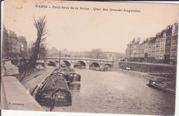CPA - PARIS - Petit Bras De La Seine, Quai Des Grands Augustins - Die Seine Und Ihre Ufer