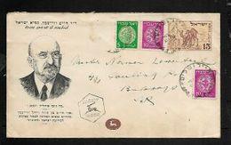 Israel -Chaim Weissman Birthday, 15p Negev Envelope & Adhesives 27.11.49   > Bulawayo S.Rhodesia. - FDC