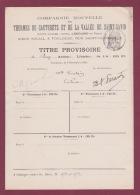 010518A VIEUX PAPIER - Titre Provisoire De 2 Actions Libérées THERMES DE CAUTERETS Et Vallée De SAINT SAVIN 31 TOULOUSE - Eau
