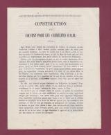 010518A - TARN ALBI 1843 Archevêque JJ M EUGENE Souscription Construction Couvent Des Carmélites Religion Chrétienté - Historical Documents