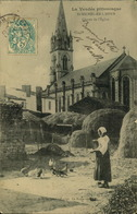 N°681 RRR GG SAINT MICHEL EN L HERM  CHEVET DE L EGLISE - Saint Michel En L'Herm