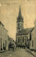 N°683 RRR GG SAINT MICHEL EN L HERM  L EGLISE CARTE ABIMEE - Saint Michel En L'Herm