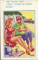 Comic Postcard Davo Copyright Of E. Marks Fine Arts Publishers Torbay Road Kilburn London NW 6 No 2412 - Humour
