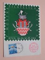 Ia MOSTRA FILATELICA RIVANA 28-29-30 Marzo 1964 - Stamp RIVA (TN) 1964 ( Voir / Zie - Photo / Foto ) ! - 1946-.. République