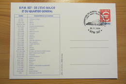 Bureau Postal Militaire 507 De BADEN (Allemagne) - Militärstempel Ab 1900 (ausser Kriegszeiten)